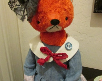 NEW from Sasha Pokrass - sweet woodland fox in sailor dress