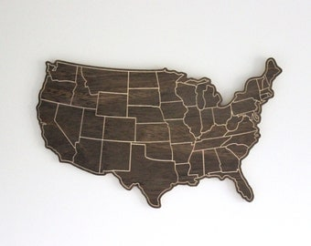 United States of America Wooden Cutout