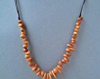 Wooden necklace CHERRY BRANDY DREAM