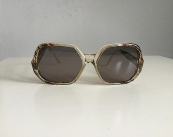 70s Sunglasses 70s Retro Sunglasses Vintage Eyewear Oversized Pilot Sunglasses Snakeskin Eyewear Neophan Glass Hippie Eyewear Vintage