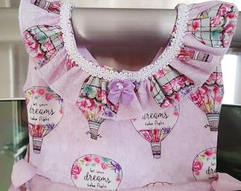 Hot Air Balloons Pink Motif Oven Door Kitchen Dish Towel Dress