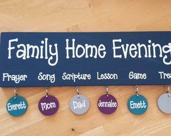 NEW NEW NEW! Family Home Evening Board!