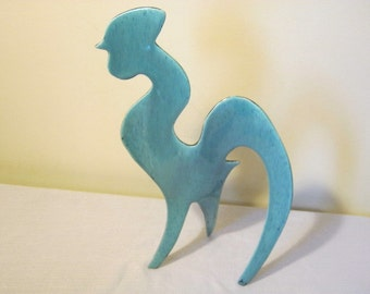 Modern Art Abstract  Ceramic Rooster Statue With A Simple Yet Stylized Form
