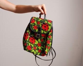 90s Ladybug mini backpack