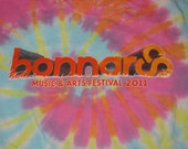 How Do You Know a Hippie's Been at Your House? He's Still There - BONNAROO 2011 Tie-Dye SMALL T-Shirt -Widespread Panic Black Keys Eminem NM