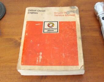Detroit Diesel Allison Engines In-Line 71 Service Manual #6SE177, Factory Manual