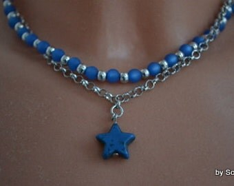 Chain in Silver/Blue with star