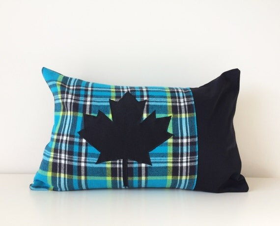 Modern Maples Pillow : Items similar to SALE! Maple Leaf Pillow Cover, 12x18, Canada Throw Pillow, Plaid Cushion Cover ...
