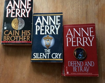 William Monk Novels-Set of 3-Ann Perry-Book Gift Set-Vintage