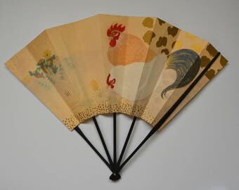 Decorative fan, bamboo and paper card, Japanese 'ohgi' sensu, made in Kyoto #8