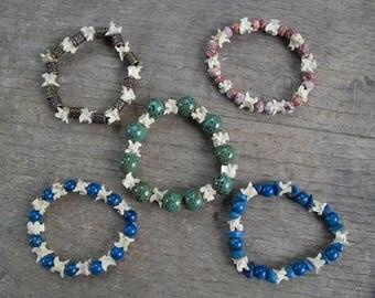 Snake vertebrae bracelets