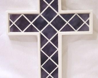 Purple Glass Mosaic Cross