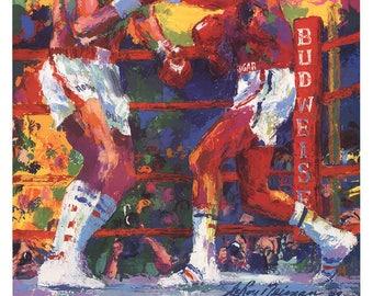 Leroy Neiman-Leonard vs. Duran III-1989 Poster