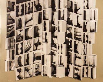 Louise Nevelson-Untitled (Gold)-1974 Foil Print
