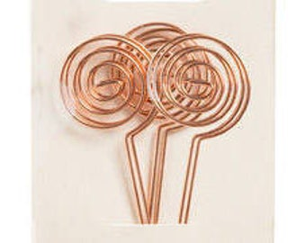 "Set Of 12 - 6"" Copper Table Number Holders Place Card Holder Wedding Rose Gold Place Card Holders Table Number Holder Wire Photo Holder"