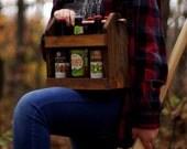 2 Beer Caddy - 2 Home Brew Six Pack Carriers -2  Beer Bottle Carriers - 6 Pack -Best Man Gift-  Groomsmen Gift