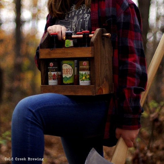 2 Beer Caddy - 2 Home Brew Six Pack Carriers -2  Beer Bottle Carriers - 6 Pack -Best Man Gift-  Groomsmen Gift