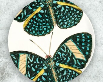 Butterfly, turquoise butterfly melamine plate