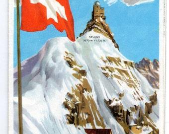 Vintge Kleine Schedegg and Jungfraujoch Brochure Switzerland 1950's(?) Tourist Excusions aboard Mountain Railway in 4 Languages w/Pics