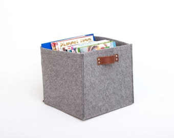 Felt storage box, knitting bag ,bathroom storage ,Color Option available, EXPRESS SHIPPING