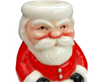 Santa Claus Candle Holder, Designed by Carolina Made in Japan
