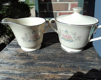 Sugar and creamer by Lenox