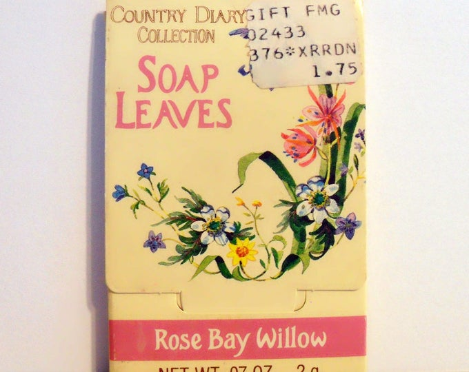 Vintage 1980s Rose Bay Willow by Country Diary Collection (Village Bath) 0.07 oz Scented Soap Leaves in Packet