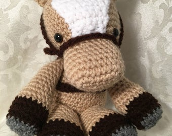 Herbert the Horse - stuffed toy - crocheted