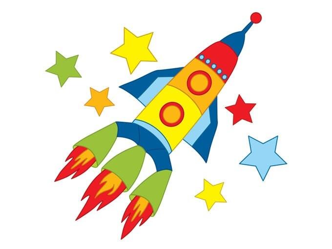Rocket Clipart Digital Vector Space Rocket Space Shuttle