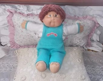 Cabbage Patch Doll 1982, Vintage Cabbage Patch Doll, Xavier Roberts, Looped Brown Haired Cabbage Patch Doll, Dolls ,Vintage Dolls :)s