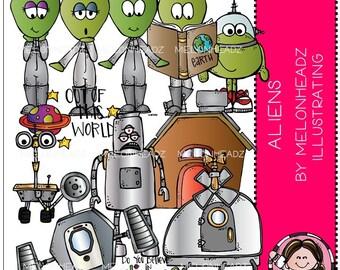 Aliens clip art - COMBO PACK