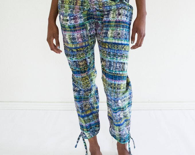 SALE 20% OFF Woven Ikat Trousers