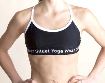 Bikini bra black&white  for Bikram yoga