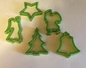 set of 5 Vintage Cookie cutters , 70-80 mm (BR61)