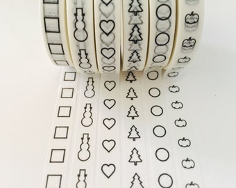 Checklist Planner Washi Tape in 6 Patterns