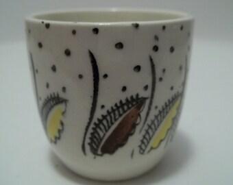 Vintage 1960's Kathie Winkle Petula Pattern Broadhurst Ironstone Small Cup