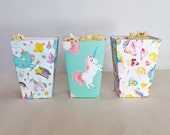 Set of 6 DIY Unicorn Popcorn and Sweet Party Boxes