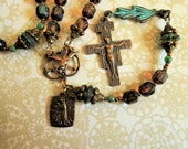 St. Francis of Assisi Five Decade Rosary-Catholic Rosary-Peace Rosary-Handmade Rosary-Sold by Lily of Peace on Etsy