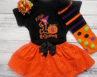 Baby Girl My First Halloween Costume/Outfit,  1st Halloween outfit, Personalized babys' first halloween outift
