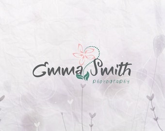 Photography Logo and Watermark.Flower logo. Premade logos BUY 2 and GET 1 FREE!!!