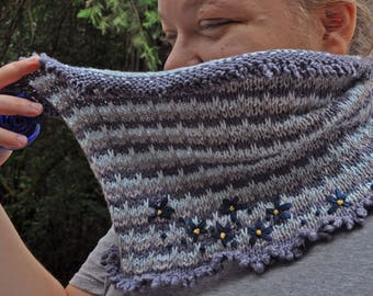 Cornflower Cowl knitting pattern - instant download