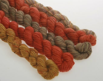 Mini Skeins TERRACOTTA, RED -  'Touring Tuscany'  834