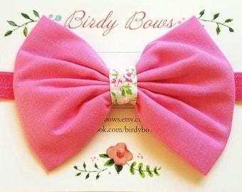 Pink Bow Headband, Baby Headbands, Baby Girl Headbands, Baby Girl Headbands, Infant Headbands, Baby Bows