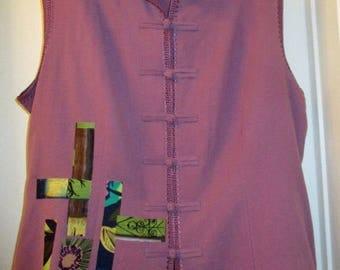 Upcycled Artsy Shirt / Jacket Size 2X 3X