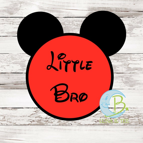 INSTANT DOWNLOAD Disney Little Bro Brother Printable DIY Iron On to Tee T-Shirt Transfer - Digital File