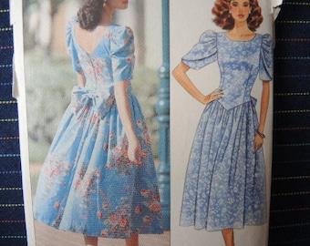 vintage 1990s Butterick sewing pattern 4717 misses dress size 6-8-10