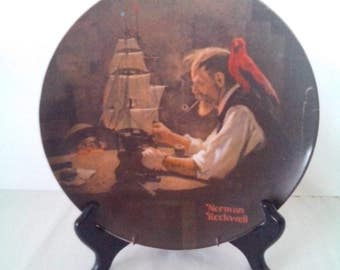 """Norman Rockwell """"The Ship Builder"""" Plate by the Knowles Fine China Company"""