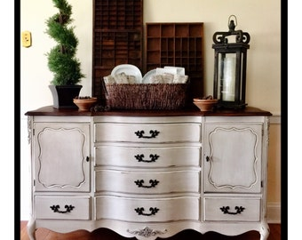 SOLD Vintage French Provincial Farmhouse Style Buffet/Sideboard Pick Up Only