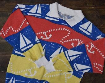 Nautical Multi Coloured Boat Sweatshirt
