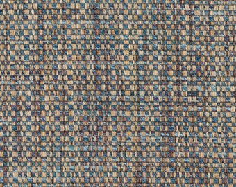 Taupe Blue Tweed Upholstery Fabric - Light Blue Woven Textured Furniture Fabric - Custom Taupe Blue Textured Pillow Covers - Brown Tweed